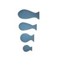 Dekorace Námořník - rybičky světlé - set