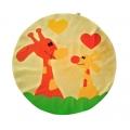 Velký válecí polštář Žirafa