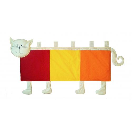 Kapsář za postel Kočička 150cm (barvy na přání)